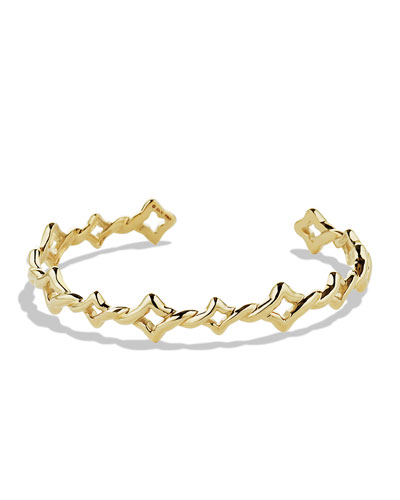 David Yurman Venetian Quatrefoil Single-Row Bracelet in Gold