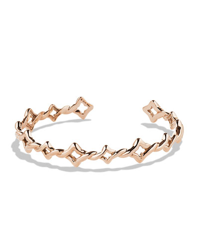 David Yurman Venetian Quatrefoil Single-Row Bracelet in Rose Gold