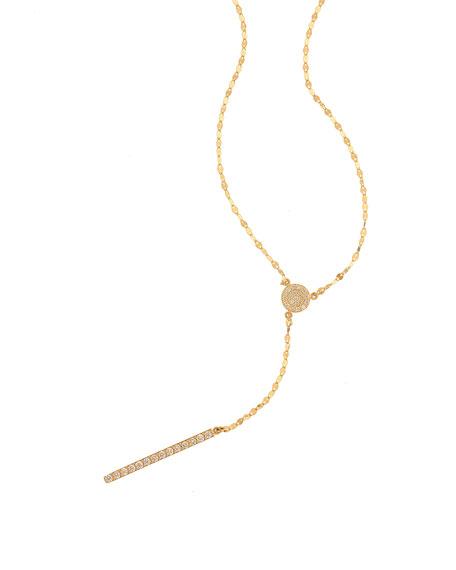 Mirage 14k Diamond Y Necklace