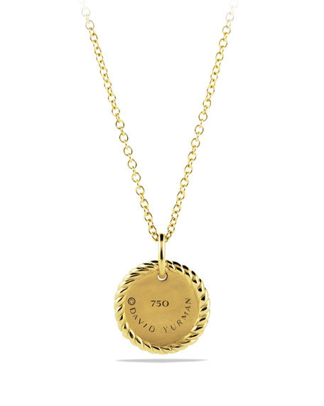 David Yurman Evil Eye Pendant Necklace with Diamonds