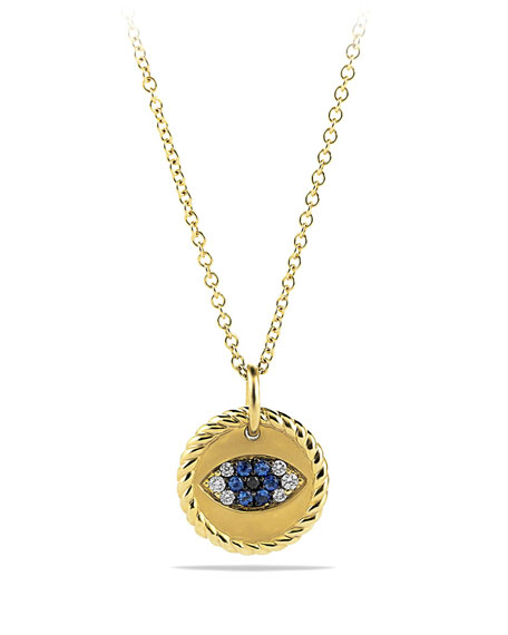 Evil Eye Pendant Necklace with Diamonds