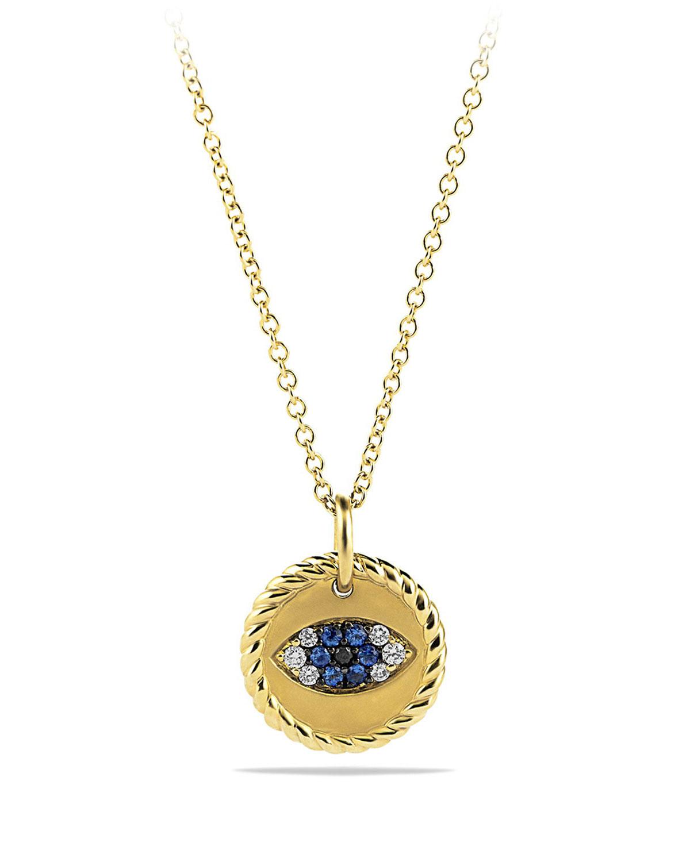 david yurman evil eye pendant necklace with diamonds. Black Bedroom Furniture Sets. Home Design Ideas