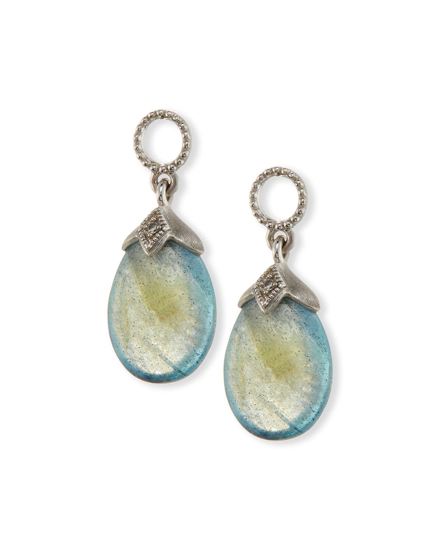 Jude Frances Pear-Shaped Labradorite Briolette Earring Charms with Diamonds pmhbyxZ5