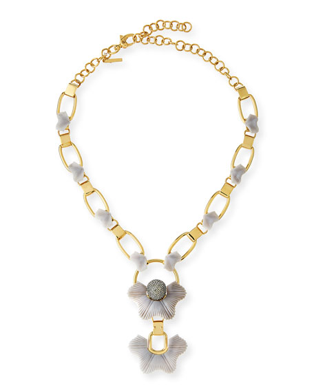 Lele Sadoughi Sculpted Sugarbush Statement Necklace