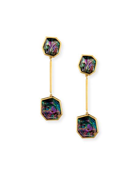 Lele Sadoughi Abalone Shell Linear Drop Earrings