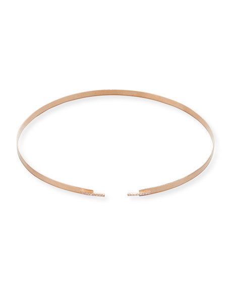 Flawless Volume Choker Necklace with Diamonds in Rose Gold