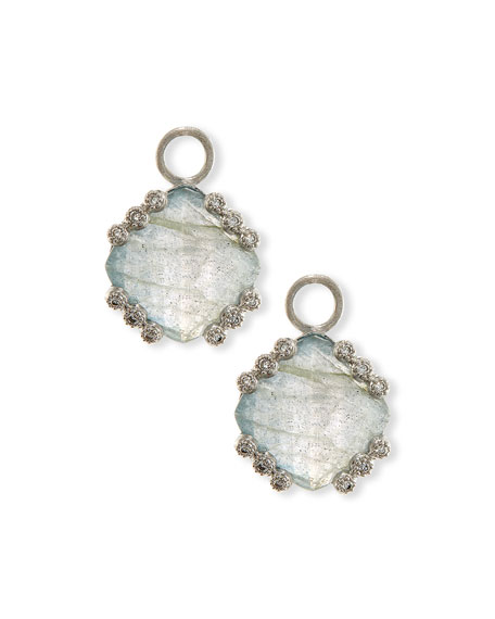 Labradorite & Blue Topaz Earring Charms with Diamonds