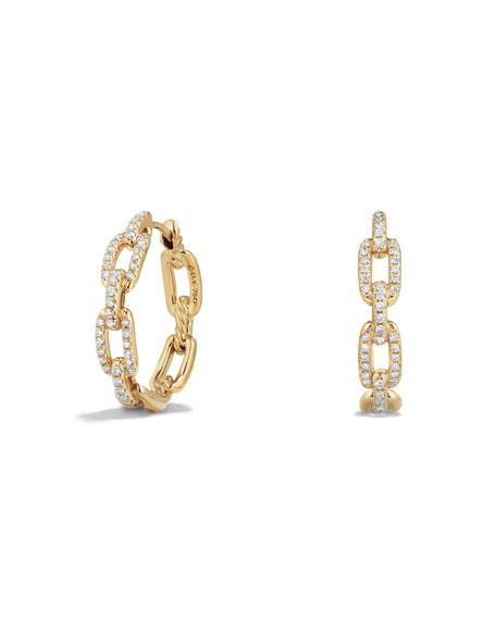 David Yurman Stax Medium Chain-Link Hoop Earrings with