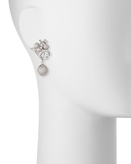 Victorian-Style Crystal Drop Earrings