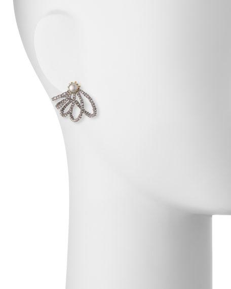 Crystal Lace Orbit Earrings