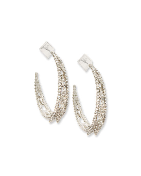 Crystal Lattice Hoop Earrings