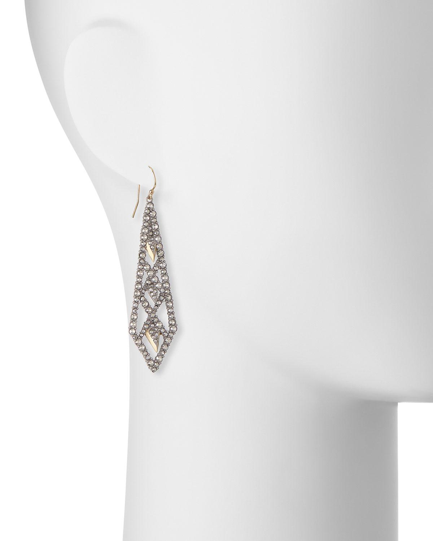 Alexis Bittar Crystal Lattice Drop Earrings DhYXp