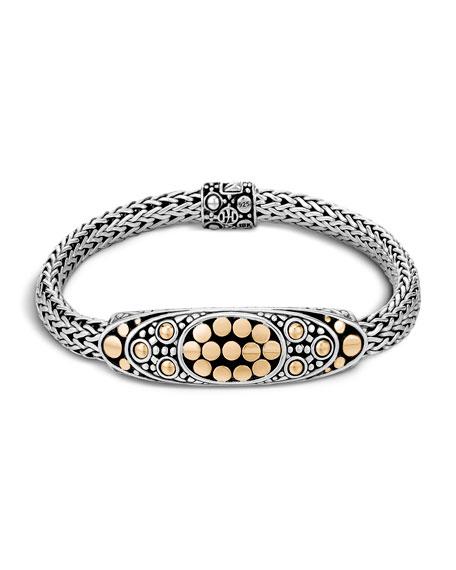 John Hardy Dot Silver/Gold Oval Station Bracelet