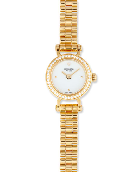 Fauborg TPM Watch with Diamonds in 18K Yellow Gold