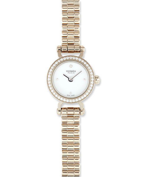 Fauborg TPM Watch with Diamonds in 18K White Gold
