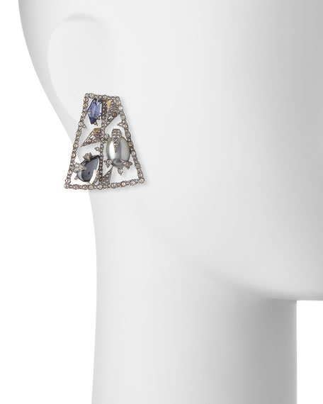 Fancy-Cut Crystal Mosaic Earrings
