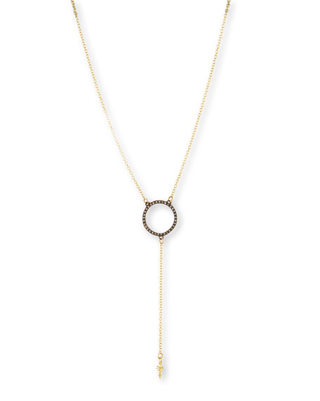 Armenta Old World Open Diamond Circle Lariat Necklace
