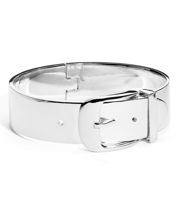Wide Sterling Silver Buckle Bracelet