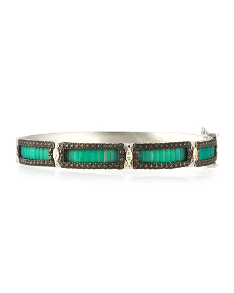 Armenta New World Teal Mosaic Bracelet with Diamonds
