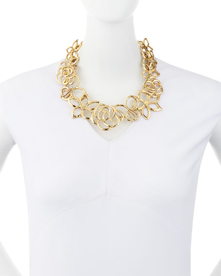 Intertwined Floral Statement Necklace
