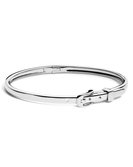 Shinola Thin Sterling Silver Buckle Bracelet FD4ZB1bq