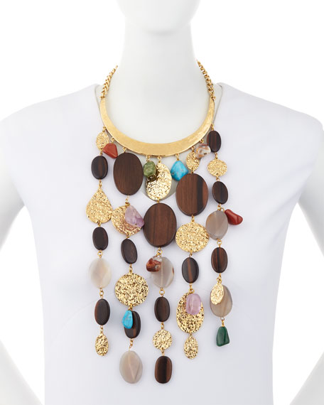 Mixed-Bead Statement Collar Necklace