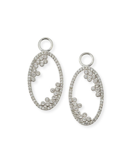 Jude Frances Provence 18K Open Oval Earring Charms