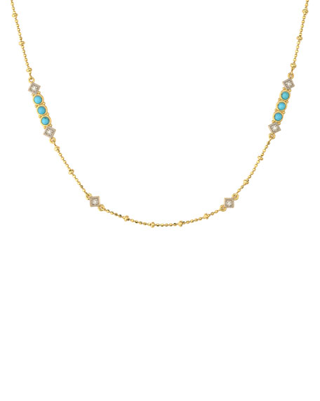 Jude Frances Lisse Diamond & Turquoise Chain Necklace