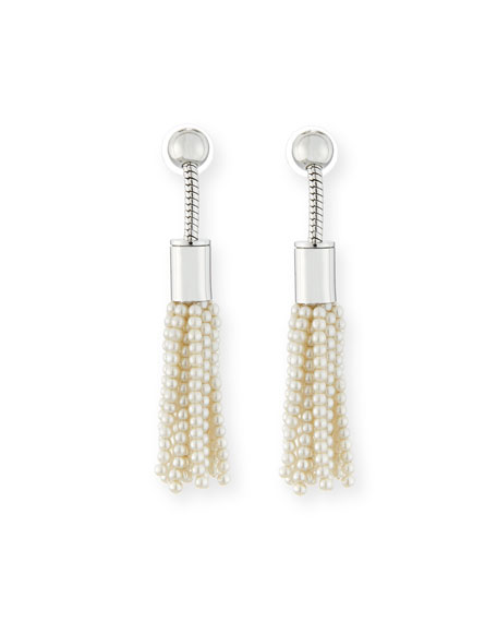 Lele Sadoughi Weeping Willow Tassel Drop Earrings