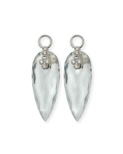 Provence 18K Teardrop Topaz Earring Charms with Diamonds