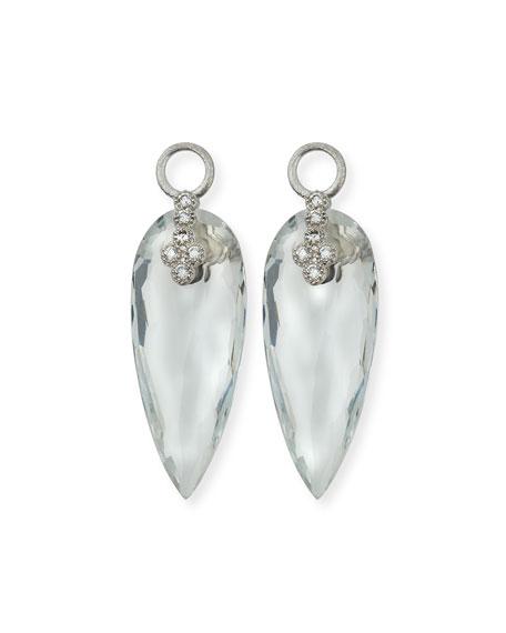 Provence 18K Teardrop Topaz Earring Charms with Diamonds