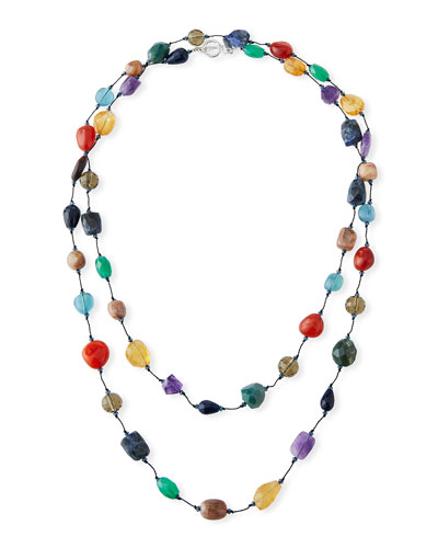 Extra-Long Mixed-Stone Necklace, 53
