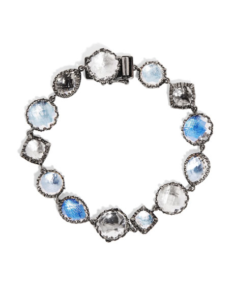 Small Sadie Tennis Bracelet in Multi-Blue Foil