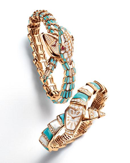 Serpenti Diamond & Turquoise Watch