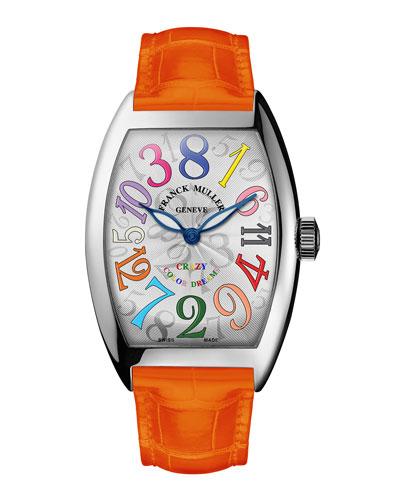 Cintree Curvex Crazy Hours Watch with Orange Alligator Strap