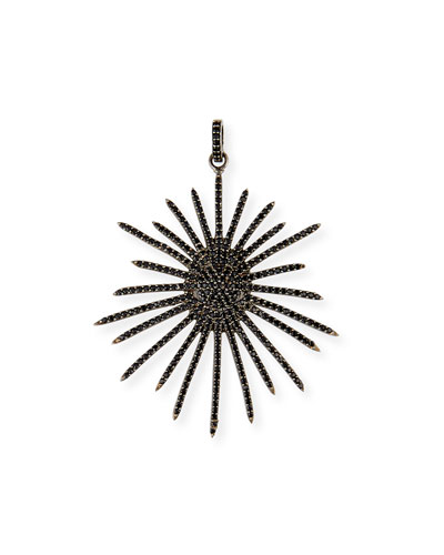 Black Spinel Starburst Pendant