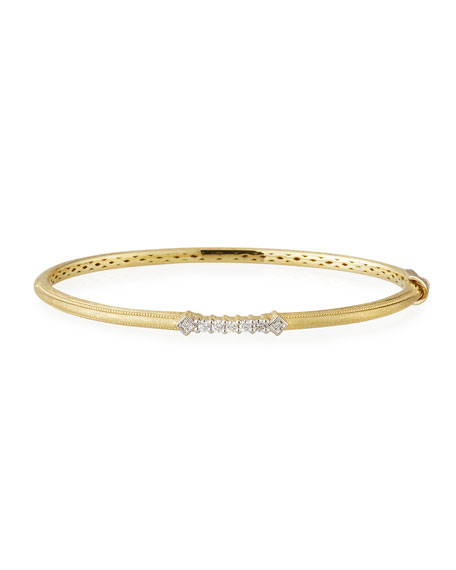 Lisse 18k Gold Diamond Accent Bangle