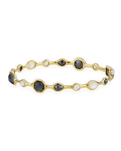Rocky Candy 18k Gold Stone Bangle in Piazza