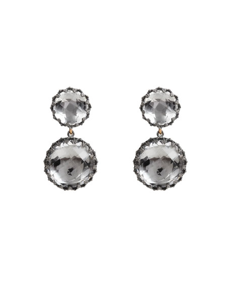 Olivia Convertible Small Drop Earrings in Dove Foil