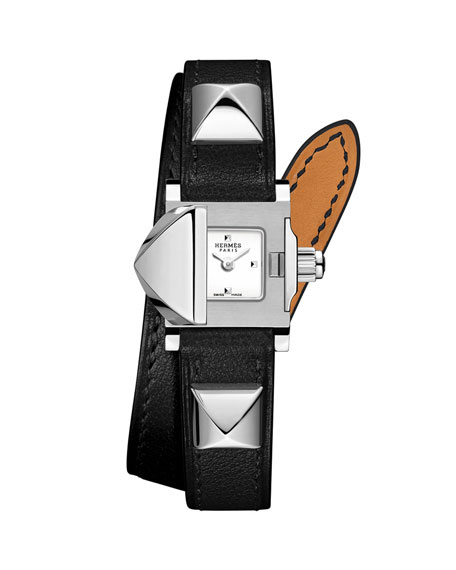 16mm Medor Mini Watch w/ Black Leather Strap