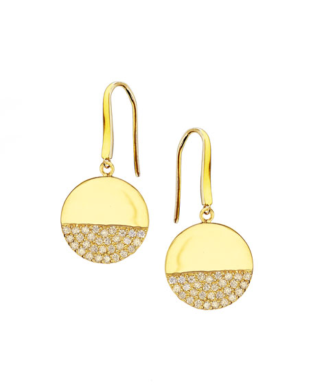 Illusion Pavé Diamond Disc Earrings