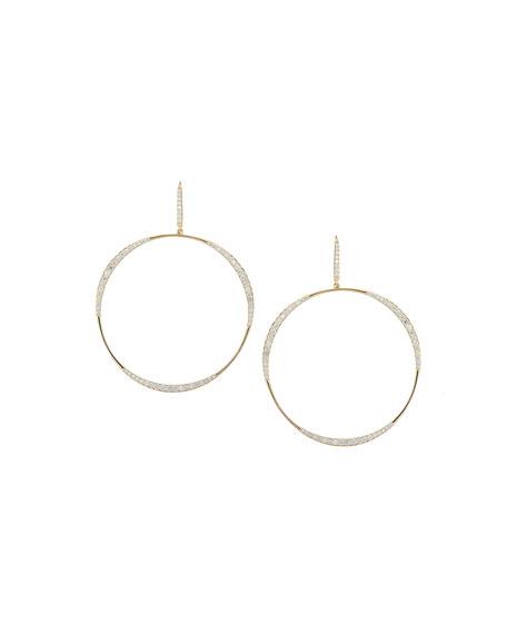 Large Flawless LA Bangle Diamond Hoop Earrings