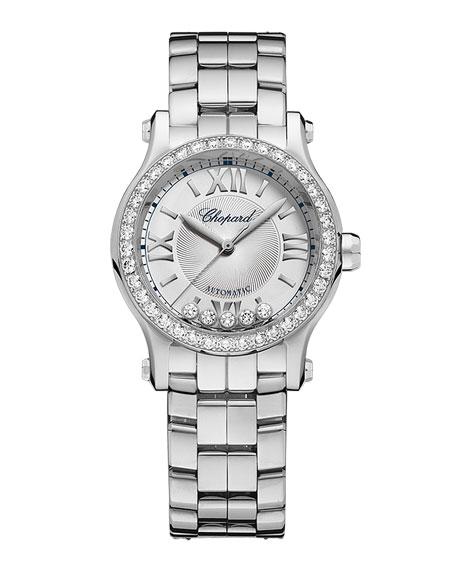 Chopard 30mm Happy Sport Mini Watch with Diamonds