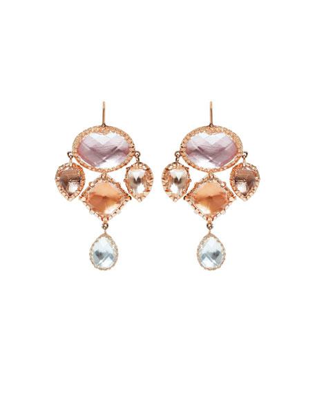 Sadie Girasole Drop Earrings in Multi-Peach Foil