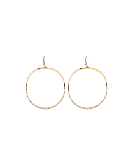 LANA 14k Large Mirage Wave Hoop Earrings