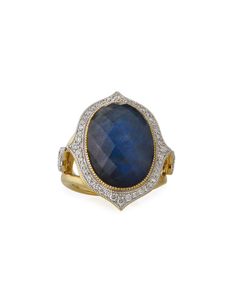 18k Moroccan Doublet Ring, Size 6.5