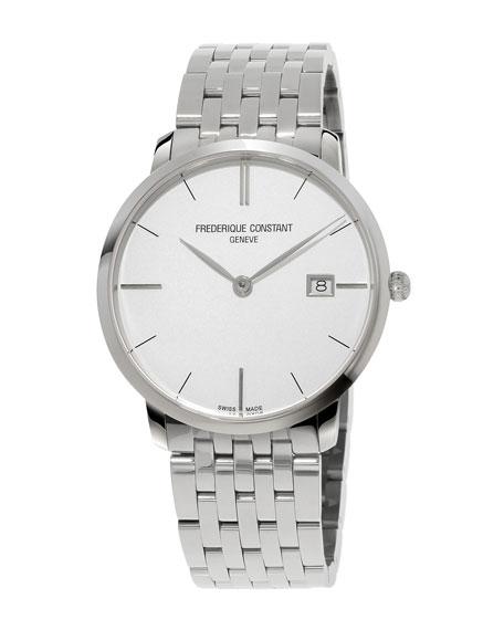Men's 38.4mm Classics Slimline Midsize Stainless Steel Watch