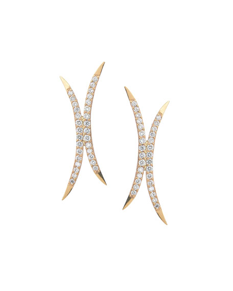 Small Mirage Diamond Stud Earrings