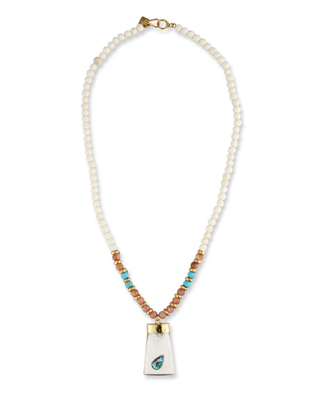 Maono Beaded Pendant Necklace, 36""