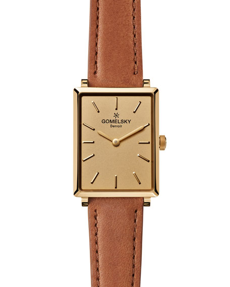 Gomelsky by Shinola Shirley 32mm Leather Strap Watch,